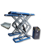 Scissor lifts, to be embedded in the ground
